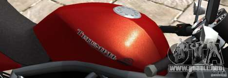 PCJ600 to Triumph StreeTTriple para GTA 4 left