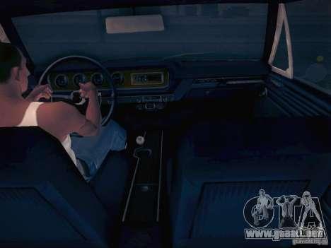 Pontiac GTO 65 para GTA San Andreas vista hacia atrás