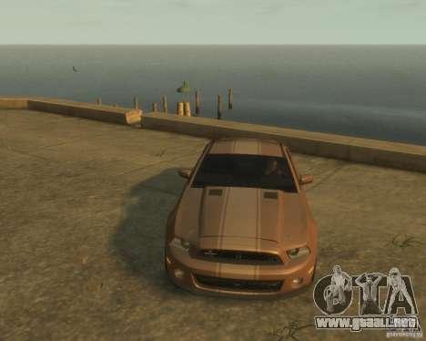 2011 Shelby GT500 Super Snake para GTA 4 vista hacia atrás