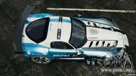 Dodge Viper SRT-10 ACR ELITE POLICE para GTA 4 visión correcta