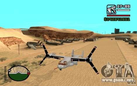 Bell V-22 Osprey para GTA San Andreas