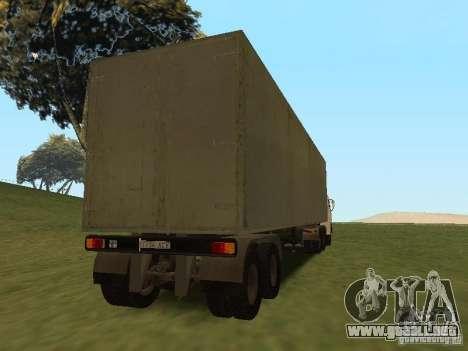 NEFAZ 93344 trailer para GTA San Andreas vista hacia atrás