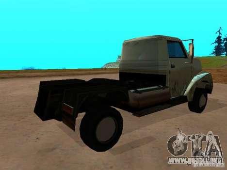 Yankee Truck para GTA San Andreas vista posterior izquierda
