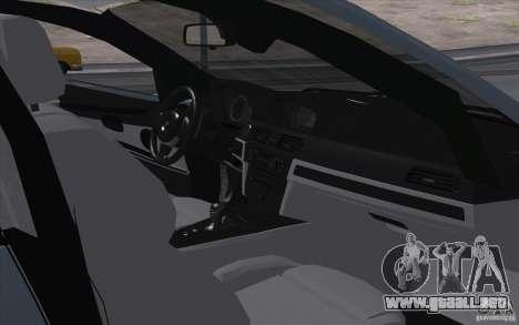 BMW X6M 2013 para GTA San Andreas vista hacia atrás