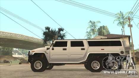 Hummer H6 para GTA San Andreas left