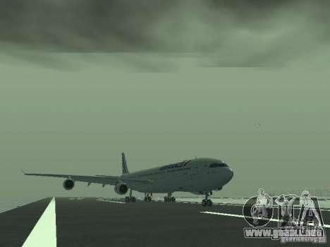 Airbus A340-300 Air France para GTA San Andreas left