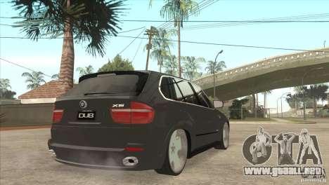 BMW X5 dubstore para la visión correcta GTA San Andreas