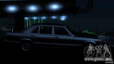 Mercedes Benz 560SEL w126 1990 v1.0 para vista lateral GTA San Andreas
