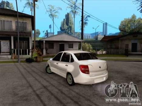 Acción LADA Grant para GTA San Andreas vista posterior izquierda