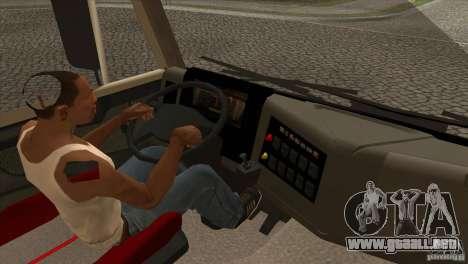 KAMAZ 5460 3420 Euro Turbo para visión interna GTA San Andreas
