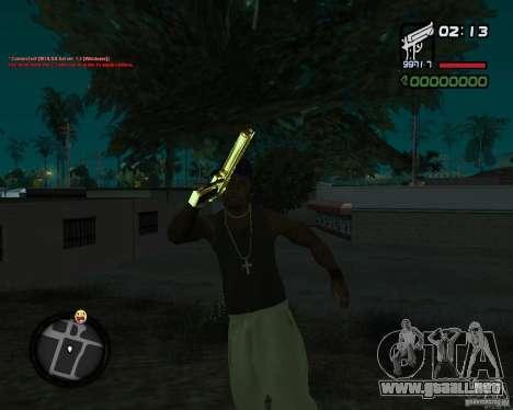 Desert Eagle GOLD para GTA San Andreas tercera pantalla