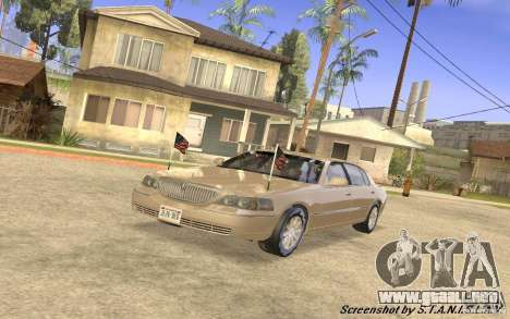 Lincoln Towncar Secret Service para GTA San Andreas