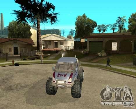 GAS KeržaK (Swamp Buggy) para GTA San Andreas vista hacia atrás
