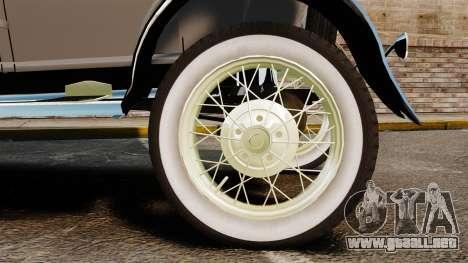 Ford Model T 1927 para GTA 4 visión correcta