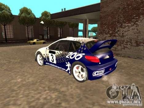Peugeot 206 WRC de Richard Burns Rally para GTA San Andreas left