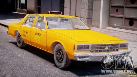 Chevrolet Impala Taxi 1983 [Final] para GTA 4 left