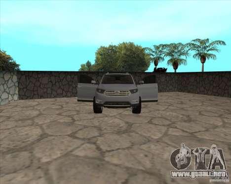 Toyota Highlander para la vista superior GTA San Andreas