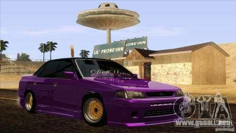 Subaru Legacy Drift Union para la visión correcta GTA San Andreas