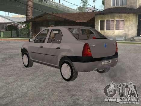 Dacia Logan 1.6 para la visión correcta GTA San Andreas