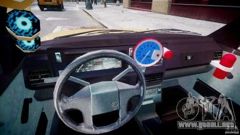 Volkswagen Golf MK2 Tuning para GTA 4 vista hacia atrás