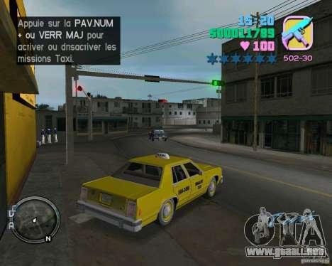 Ford Crown Victoria LTD 1985 Taxi para GTA Vice City vista posterior