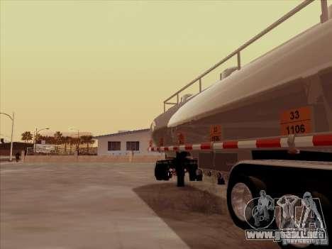 Trailer Kenworth T2000 para la visión correcta GTA San Andreas
