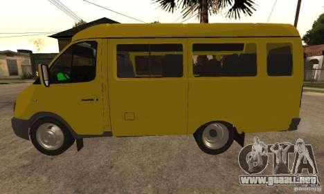 Minibús Gazelle 32213 Novosibirsk para la visión correcta GTA San Andreas