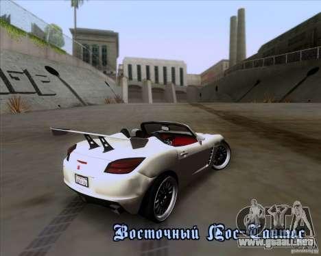 Saturn Sky Roadster para vista inferior GTA San Andreas