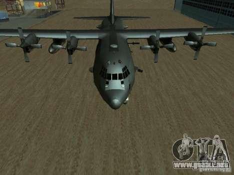 AC-130 Spooky II para la visión correcta GTA San Andreas