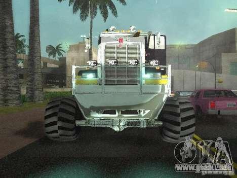 Kenworth W900 Monster para visión interna GTA San Andreas