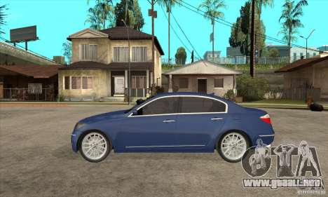 Hyundai Genesis para GTA San Andreas vista hacia atrás