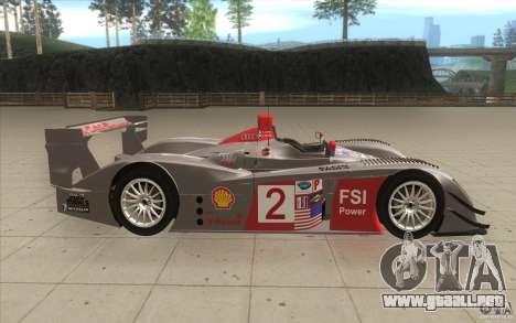 Audi R10 LeMans - Stock para visión interna GTA San Andreas