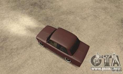 2106 VAZ Street Style para GTA San Andreas vista posterior izquierda