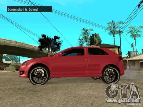 Audi S3 2006 Juiced 2 para GTA San Andreas left