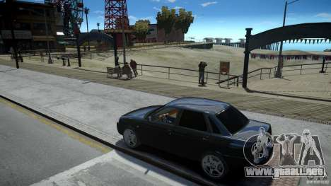 Lada Priora Light Tuning para GTA 4 vista interior