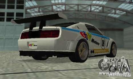 Ford Mustang GT-R para visión interna GTA San Andreas