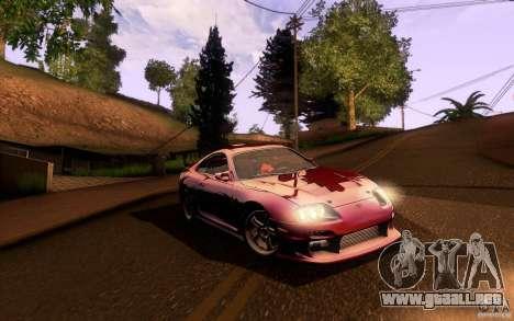 Toyota Supra Top Secret para visión interna GTA San Andreas