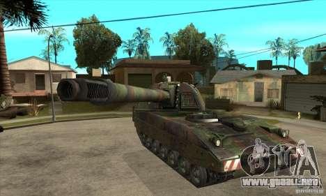 Panzerhaubitze 2000 para GTA San Andreas vista hacia atrás