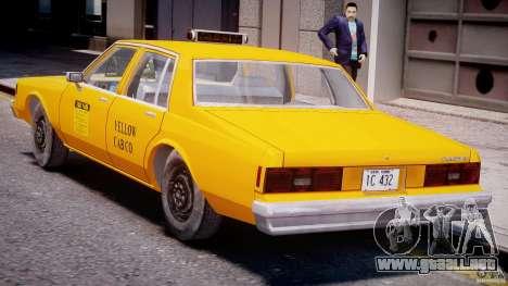 Chevrolet Impala Taxi 1983 [Final] para GTA 4 vista desde abajo