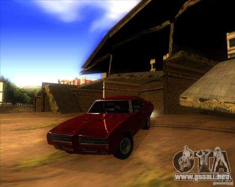 Pontiac GTO 1969 para la vista superior GTA San Andreas