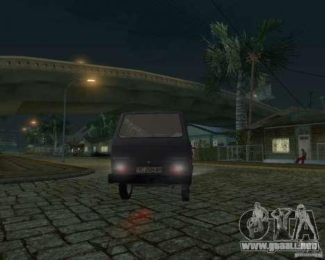 Volkswagen Transporter T3 para la vista superior GTA San Andreas