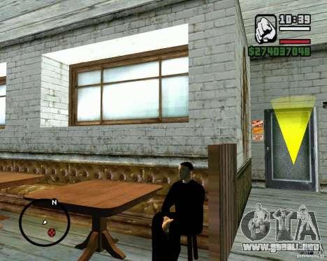 Capacidad para sentarse para GTA San Andreas tercera pantalla