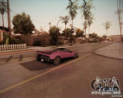 Pagani Zonda F V1.0 para GTA San Andreas vista posterior izquierda
