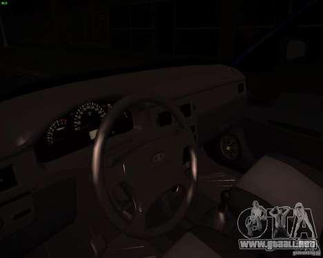 Restajl VAZ-2172 para visión interna GTA San Andreas