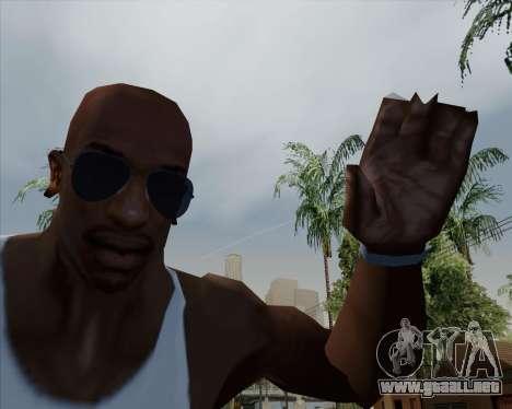 Azules gafas de aviador para GTA San Andreas tercera pantalla