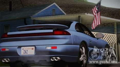 Dodge Stealth RT Twin Turbo 1994 para GTA San Andreas vista hacia atrás