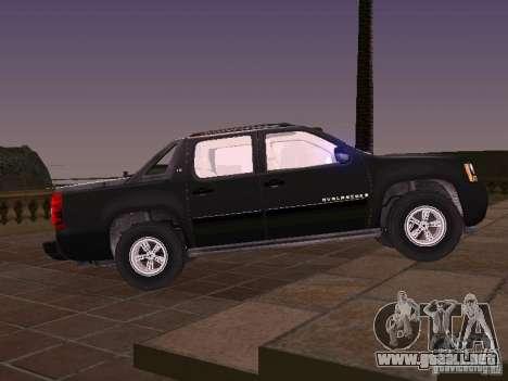 Chevrolet Avalanche para GTA San Andreas left