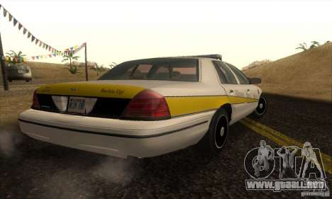 Ford Crown Victoria Illinois Police para GTA San Andreas left
