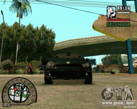 Volswagen Scirocco para visión interna GTA San Andreas