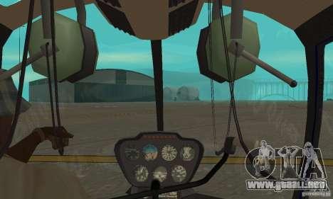 Robinson R44 Raven II NC 1.0 piel 3 para visión interna GTA San Andreas